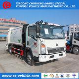 Используется HOWO 16m3 16 кубических метров сбор отходов грузовики на продажу