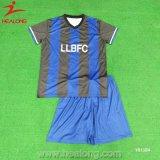 Le football uni par sublimation Jersey de teinture de vêtements de sport de créateur de Healong