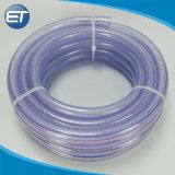 無毒な非ねじりライトゆとりPVCファイバーポリエステル編みこみの管のホース
