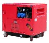 3kw 최고 침묵하는 디젤 엔진 발전기 공냉식 빨간 및 분홍색
