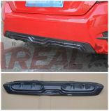 Para Honda Civic 10 de 2015, difusor trasero de carbono