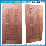 수평한 수직 베니어 자연 실제적인 Sapeli 형 합판 문 피부