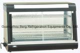 Showcase de vidro curvado do indicador do aquecedor de alimento com Ce