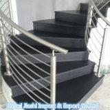 Hoch erstklassiger schwarzer Poliergranit-Innenjobsteps/Treppe