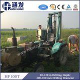 Plataforma de perforación montada alimentador del orificio profundo de Hf100t rápidamente a la velocidad Drilling