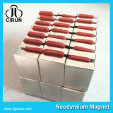 Magneet van het Neodymium van de Staaf van het Blok van de Deklaag van het zink de Sterke Krachtige