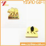 顧客デザイン(YB-SM-52)の金の金属のバッジPin