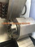 Torreta de cama de inclinación de la máquina-herramienta CNC y torno para cortar metal girando Tck46p