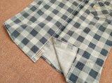 Verfte het Vierkante Garen van 100%Cotton van mensen Lange Koker Geweven Overhemden