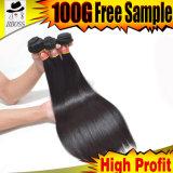 extensões naturais do cabelo humano de 9A 100%