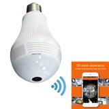 Cámara HD de WiFi de la bombilla del LED seguridad casera de 360 grados