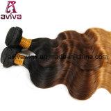 ボディ波のOmbreの自然なバージンの毛の拡張