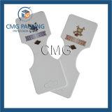 PVC em forma de coração com cartão de brinco coberto de papel (CMG-061)