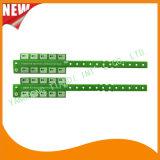 催し物10タブのビニールプラスチックリスト・ストラップIDのブレスレット(E6070-10-4)