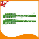 Entertainment Ficha 10 pulseras de plástico de vinilo brazalete de identificación (E6070-10-4)
