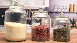 Hotsale freies Glasglas mit gedichteter Schutzkappe zur Speichernahrung/-dörrobst
