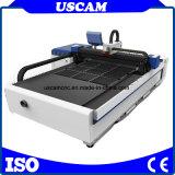 Machine de découpe de la plaque de métal CNC avec générateur de laser à fibre