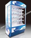 세륨에 의하여 증명서를 주는 슈퍼마켓 수직 음료에 의하여 냉장되는 진열장