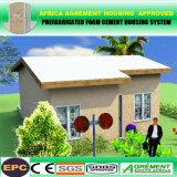 Camera prefabbricata di lusso concreta prefabbricata della villa della struttura d'acciaio dell'indicatore luminoso di comitato