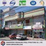 Edifício comercial Prefab Multifunctional do painel de sanduíche da construção de aço