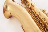 Sassofono di tenore placcato oro --Prezzo poco costoso di alta qualità