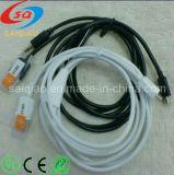 Белый 3,5-Car Aux Audio Micro USB-кабель зарядного устройства для Samsung /HTC /LG