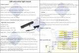 Guide optique IP67 SMD LED de mur imperméable à l'eau de la qualité