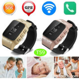 Adultos ancianos Portable Smart Tracker GPS reloj teléfono con Anti-Lost T59