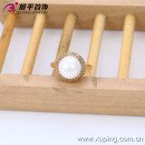 2016 Oro-Plated Women Ring di Xuping Fashion Elegant 18k della sorgente con Imitation Pearl
