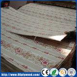 Precio más bajo de poliéster recubierto de papel superpuestas de madera contrachapada frente de la Junta de MDF