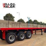 Sinotruk 3 Tri Semi Aanhangwagen van de Container van de Aanhangwagen van de Vrachtwagen van de As BPW Flatbed 40FT