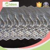 Tela del cordón del bordado de nylon Lycra geométrica africana del cordón del cordón de George