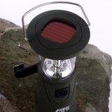 Lanterna solare della batteria LED del Li con il caricatore del telefono mobile, indicatore luminoso di campeggio solare, ricaricabile