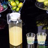 世帯のためのふたが付いているフルーツジュースの鍋の水差しのアクリルガラスのやかんセット