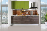 Armadio da cucina moderno della cucina dell'armadietto di disegno high-technology di figura rotonda