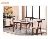 Нордическая деревянная мебель дома обедая таблицы обедая таблицы Toughened стеклянная