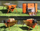 Le charbon de bois Barbecue dans la valise de pique-nique pliable conçu