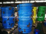 Boyau de lavage de pression douce de couverture molle de noir bleu