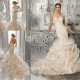 신부 드레스 결혼 예복 8189를 골라 인어를 구슬로 장식하는 우아한 레이스
