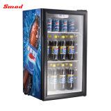 Mini étalage de réfrigérateur d'étalage, mini réfrigérateur de porte en verre