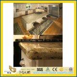 Hoog Opgepoetste Sier Gouden Countertop van de Keuken van het Graniet Giallo voor Hotel