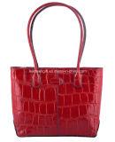 Мешок красного Tote Croco ручной