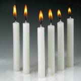 Vela brillante blanca del palillo de la vela de la decoración casera