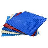 1025mm de largeur couleur PPGI ondulé en métal recouvert de tôle de toit