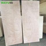 madeira compensada do Poplar do folheado de 3mm 4mm 5mm Okoume para a porta de madeira interior
