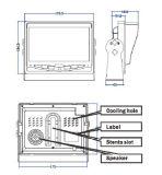 7 appareil-photo imperméable à l'eau du moniteur IP69K de Rearview de véhicule de pouce