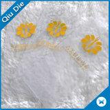 Etiquetas transparentes plásticas impermeables de encargo de la caída del PVC de las mujeres de la etiqueta para la ropa