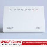 Aparelho controla o sistema de alarme GSM sem fio para segurança doméstica