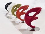 Обейте роторный стул офиса реплики с основанием нержавеющей стали круглым
