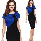 Blaues und schwarzes formales Büro-Kleid